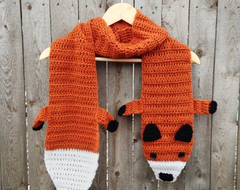 Fox Scarf, Crocheted