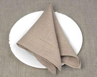 Linen Napkin set of 6 - Grey napkins - 13 x13 inch size