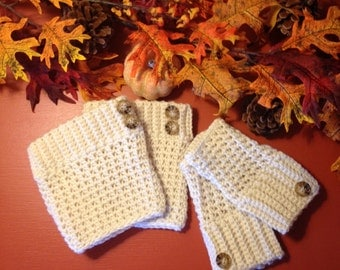 Crocheted Boot Cuffs  Finger-less Gloves