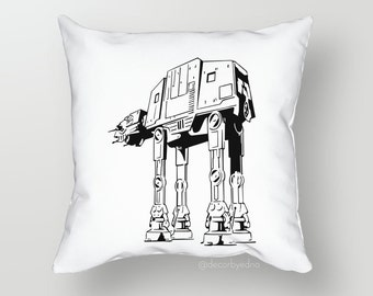Star Wars Giant Walker 18 x 18 Pillow Cover - One Pillow Cover with insert - Accent Pillow - Decorative Pillow - Throw Pillow Cover Case