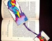 Rainbow Penguins Bookmark and Dangle