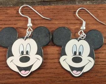 Mickey Mouse Guitar Pick earrings