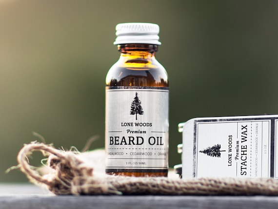 LONE WOODS Natural, Premium Beard Oil Conditioner - (Sandalwood, Cedarwood & Orange Scent) - Beard Care/Moisturizer Made in Canada