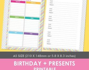 Birthday + Presents Planner Printable