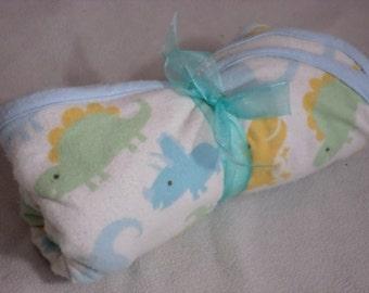 Baby Dinosaur Flannel Blanket