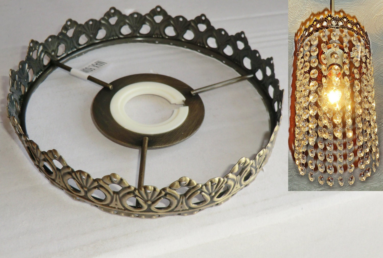 e Tier Chandelier Metal Frame No Drops Make Your Own