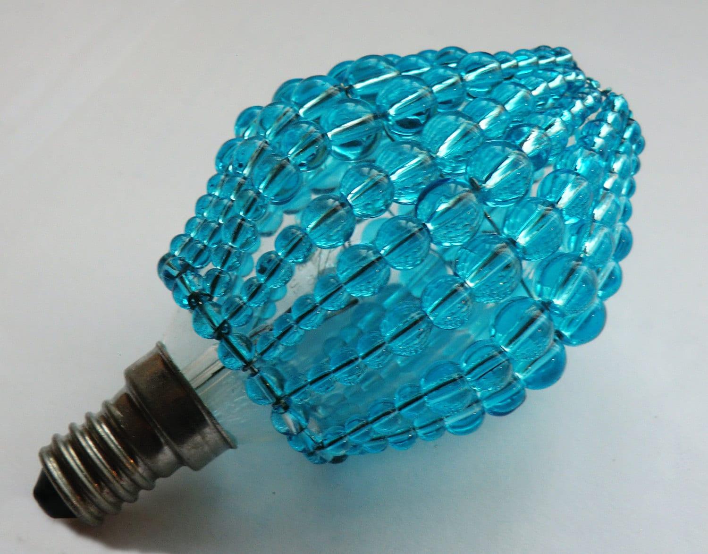Crystal Chandelier Inspired Glass Beaded Lightbulb Candle