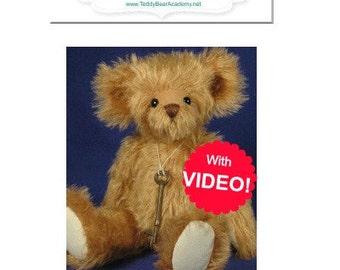 Teddy bear tutorial etsy 6 week video bear making class workshop tutorial includes free 12 teddy bear pattern fandeluxe Ebook collections