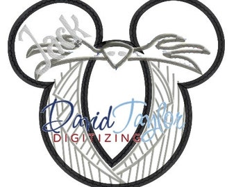 Mickey head - Nightmare Before Christmas - Jack - Applique - Instant Download - David Taylor Digitizing