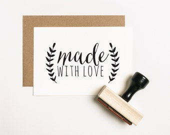 Made with Love Stamp, Handmade Favor Stamp, Wedding Favor Stamp, DIY Favor Stamp, Handmade Wedding Stamp, DIY Love Stamp (SMAIL400 - S.2)