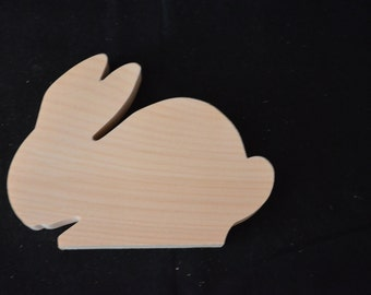 Handcrafted Wooden Unfinished  Rabbit Cutout