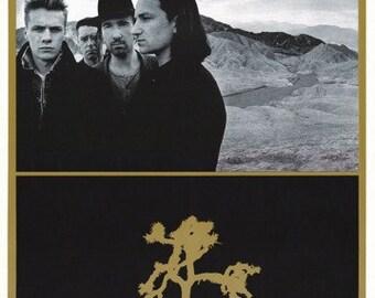 U2 Joshua Tree Rare Vintage Poster