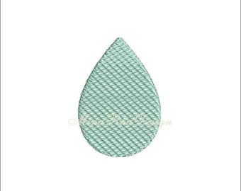 Rain Machine Embroidery Design Teardrop Pattern Instant Download