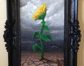 Hope in Desolation. 36 x 20 in Original Acrylic Painting