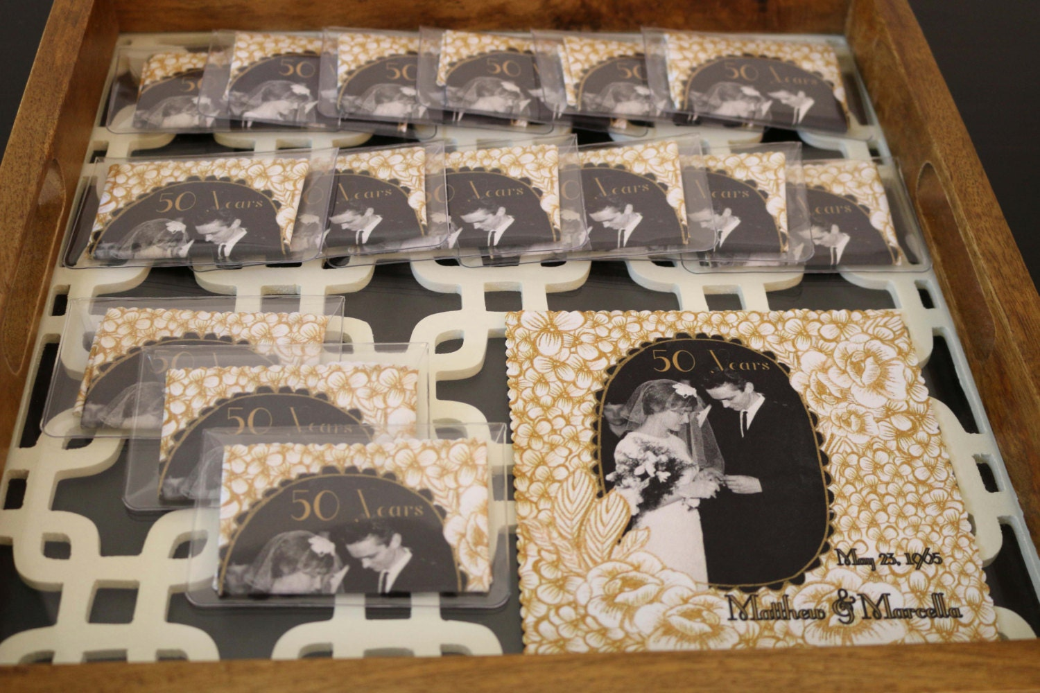 50th Wedding Anniversary Favors Microfiber Cloths In Clear