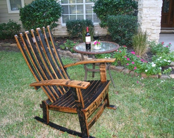 Whiskey Barrel Chair Etsy