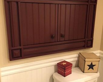 Old world bathroom storage cabinet