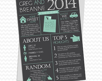 Customized Digital Year in Review Infographic Christmas or New Years Card 2