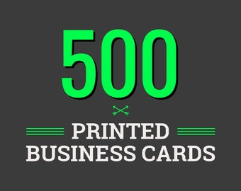 500 Printed Business Cards