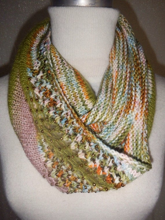 items similar to 100  merino multicolor color cowl on etsy