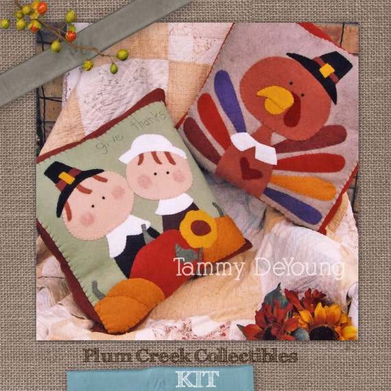 Thanksgiving decor fall pillow kit turkey by