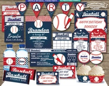 PDF format-Instant download- Vintage Baseball themed party pack printables-PDF format-for persona use only-digital file
