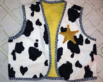 Sheriff cowboy inspired vest - Deluxe fabric