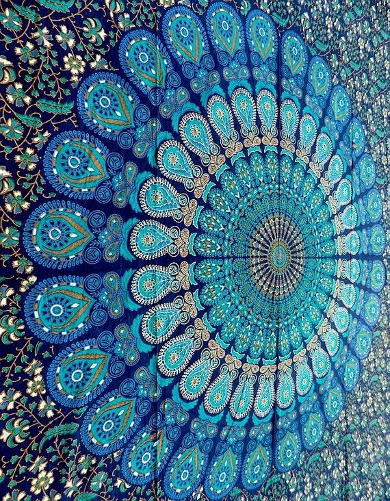 Hippie mandala tapestry wall hanging boho bohemian twin bedding throw