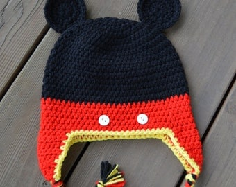 Mouse Earflap Hat - Ready To Ship - Toddler