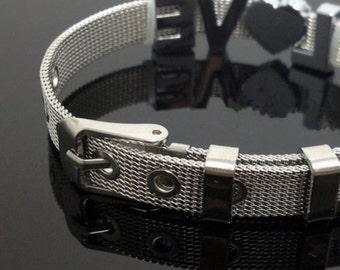 Personalized Dog Collar Stainless Steel Collar 8mm Stainless Steel Bracelet Pet Collar Cat Collar Slide On Dog Tag Slide Charm Bracelet