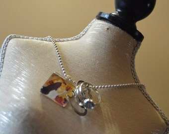 Custom Wedding Photo Charm Necklace