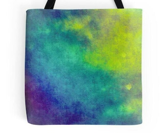 Multi Colored Bag, Northern Lights Inspired, Abstract Print, Colorful Bag