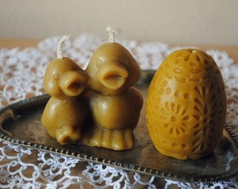 Beeswax Ducks and Egg Candles - Easter Candle, Easter decoration, gift
