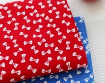 Bow cotton fabric, special cotton corduroy  fabric,bow baby clothes/baby sheet/ cotton cloth /cotton twill fabric--1/2 yard