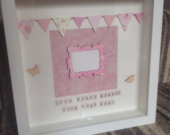 Framed Personalised Bespoke Christening Artwork
