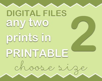 Choose any two art prints from my PinkeeArt or PinkeeHome shop and turn into digital files, customize
