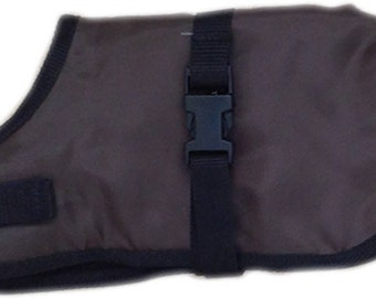Waterproof Dog Coats, fleece lined, Warm, Barking Mad Clothing UK.  Chocolate Brown colour, excellent quality