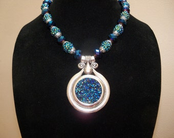 Silver and Royal Blue Necklace