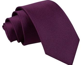 Satin Plum Boy's Tie