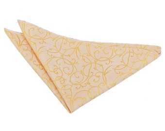 Swirl Gold Handkerchief / Pocket Square