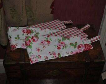 Curtain Tie Backs Handmade Reversible in Cath Kidston Rosali! Cath Kidston Rosali Curtain Tie Backs, Cream Red Roses Tie Backs!