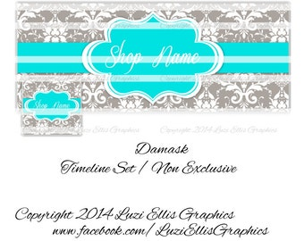 Damask Facebook Timeline  Banner & Profile - non-exclusive