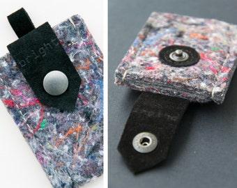 iPod nano 7G nano 8G * genuine LEATHER & industrial recycled FELT case / felt  ipod case