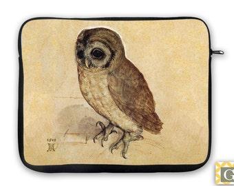 Owl Antique Print  iPad Case, Laptop Bag, Laptop Sleeve, Laptop Case, iPad Sleeve, MacBook Case, Tablet Case - Baby Owl