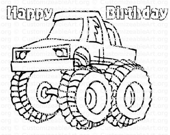 Monster Truck Party Favor Monster Truck Coloring Page ...