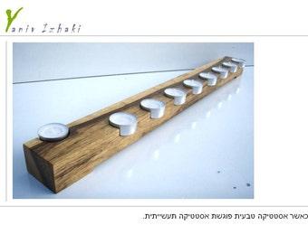 Special *** Hanukia Chanukia Menorah *** Unique Design Made in Israel