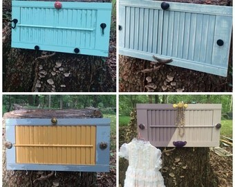 Vintage shutters repurposed, distressed with Annie Sloan chalk Paint ,clear or dark wax.