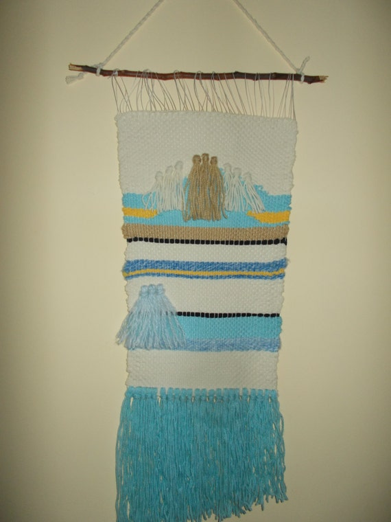 Wall Art Loom Kit : Items similar to woven wall hanging weaving tapestry frame