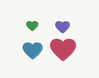 Mini Heart Machine Embroidery Design - 4 Sizes