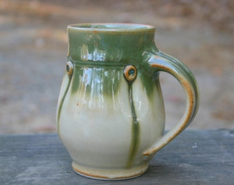 Green Pot Bellied Mug - coffee mug - mug